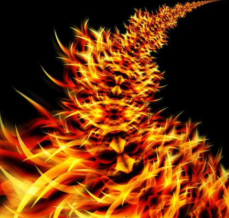 erupt: abstract flames Stock Photo