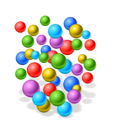 multi coloured: rubber balls Stock Photo