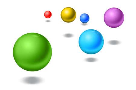 blue balls: Bouncing balls