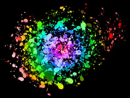 splotches: Colorful Ink splat Stock Photo