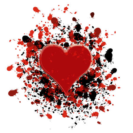 Grunge heart photo