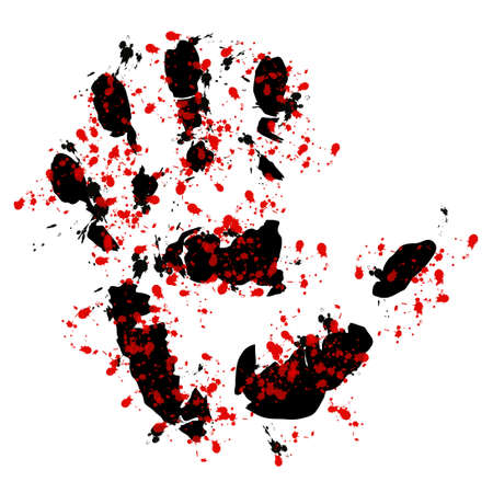 Bloody hand print Stock Photo - 6698162