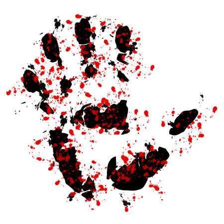 bloody hand print: Sangrienta mano de impresi�n