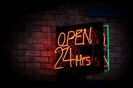 convenient store: open 24 hours Stock Photo