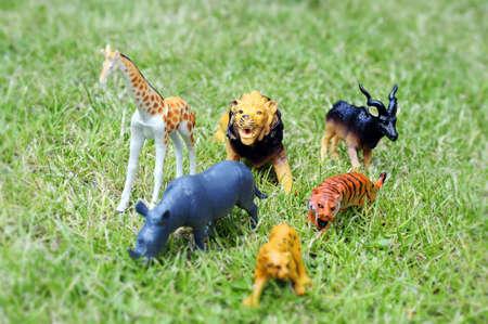 animales de zoológico de juguete  Foto de archivo - 7259601
