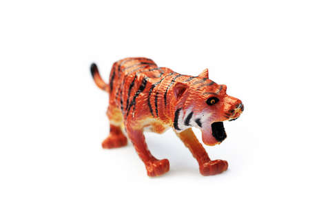 Toy plastic tiger photo