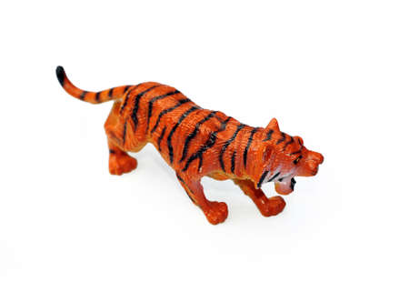 Plastic tiger Stock Photo - 7266628