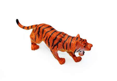 Plastic tiger Stock Photo - 7266628