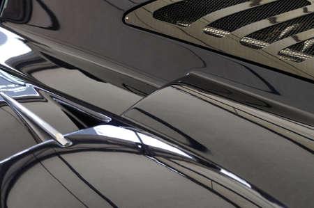 supercar: Black sports car Stock Photo
