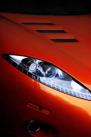 Sportwagen-Scheinwerfer  Lizenzfreie Bilder