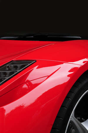 Red sports car photo