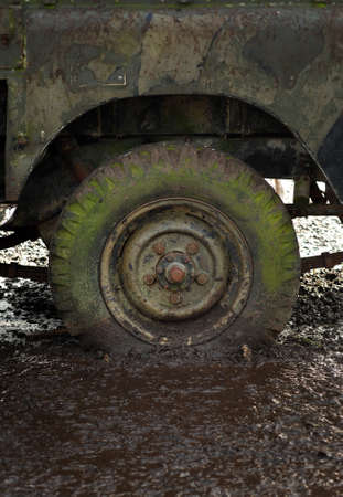 Flat tire Stock Photo - 8980794