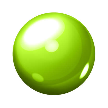 Green sphere photo
