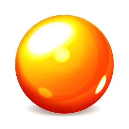 esfera de cristal: Esfera naranja