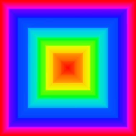 Square rainbow Stock Photo - 9166634