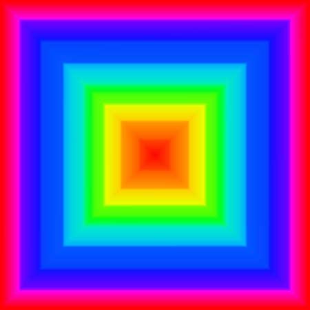 Square rainbow Stock Photo - 9166634