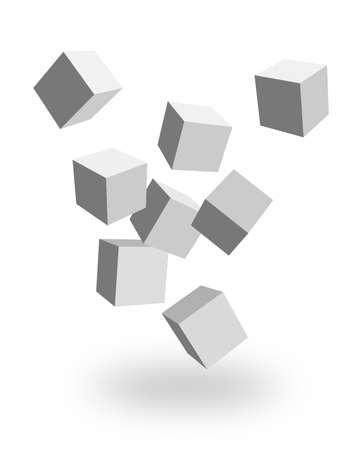 falling cubes: 3d boxes