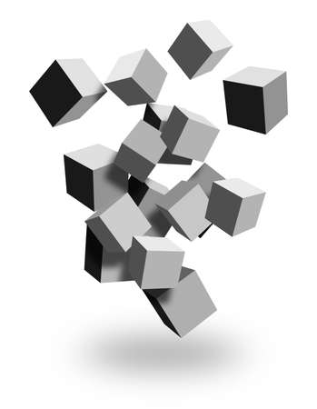 3d boxes falling Stock Photo - 9256069