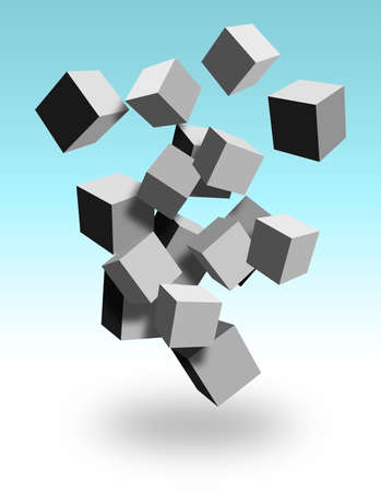 3d cubes Stock Photo - 9256066