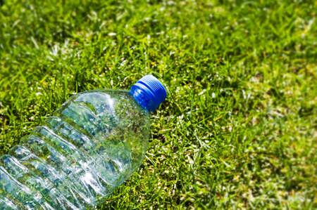 Discarded plastic beverage bottle Stock Photo - 9267156