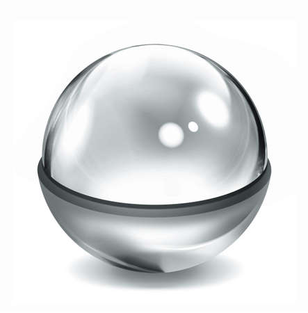 Glass ball illustration Stock Illustration - 9523131