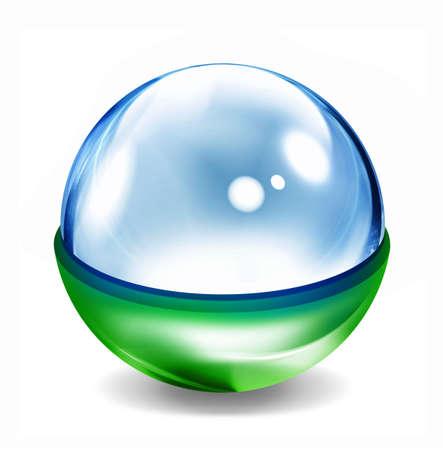 Glass ball photo