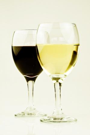 red white wine glasses Stock Photo - 11190343