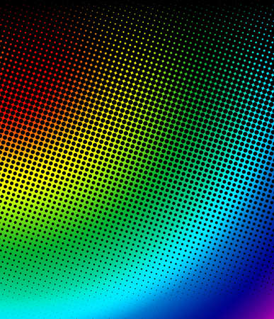 spectrum halftone Stock Photo - 16828374