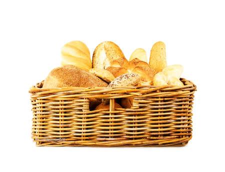 bread in basket photo