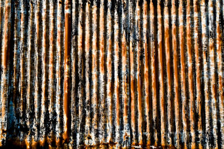 corrugated iron: corrugated iron
