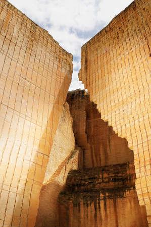 sand quarry: stone quarry pit