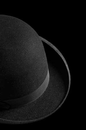 bowler hat: Black Bowler hat Stock Photo