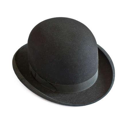 bowler hat: Bowler hat on white