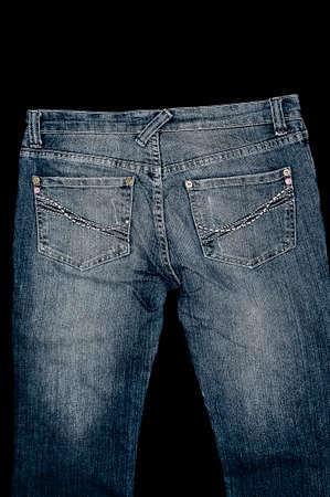 plain stitch: Casual denim jeans