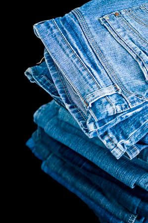 plain stitch: Piled Denim jeans