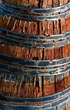 iron hoops: old barrel