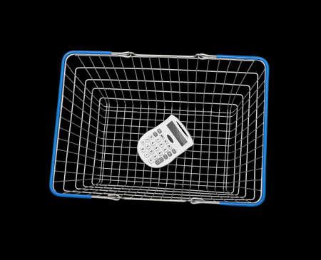 shopping basket: Calculator inside shopping basket