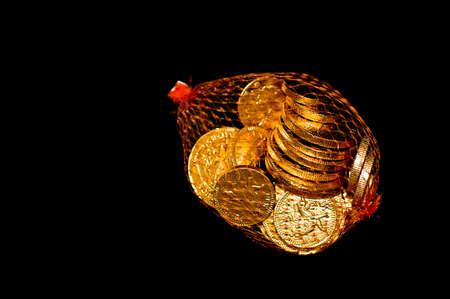 christmas debt: Bag of Chocolate coins