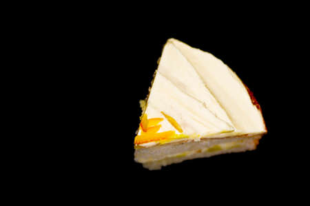 mouth watering: Piece of cake black background Stock Photo