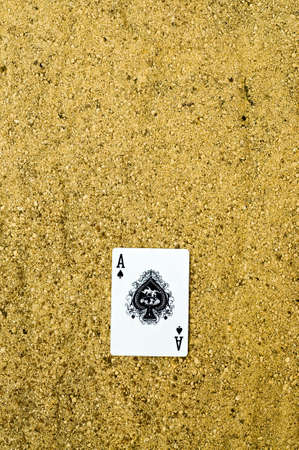 ace of spades: ace of spades card Stock Photo