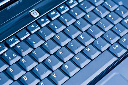 Computer keyboard blue photo
