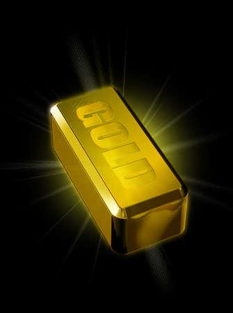 lingote de oro: Barra de oro de la ilustraci�n