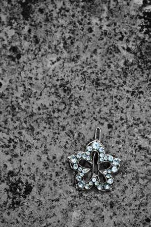 brooch: diamond brooch Stock Photo