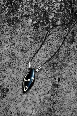 talismán: Colgante de Piedra Foto de archivo