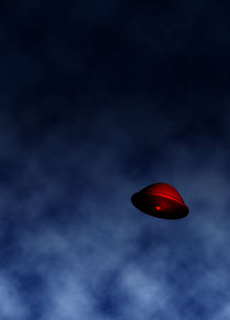 UFO in sky illustration illustration