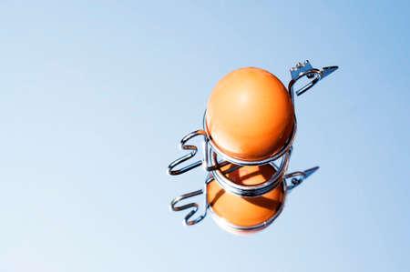 eggcup: egg in chicken eggcup