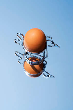 egg cup: egg in egg cup Stock Photo