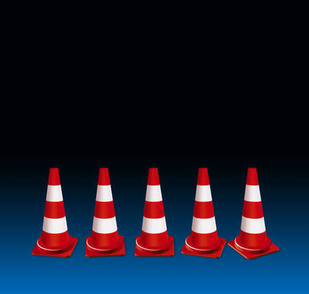 traffic   cones: Traffic cones illustration Stock Photo