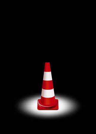 traffic cone: single traffic cone illustration