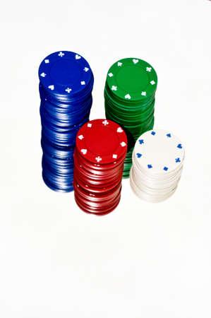 gambling counter: Casino chips Stock Photo